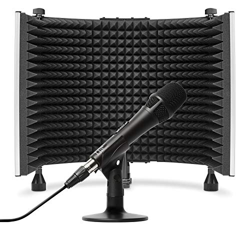 Marantz Pro M4U + Soundshield – USB Condenser Microphone with Audio Interface, Mic Cable and Desk Stand, and Foldable Sound Isolation Shield