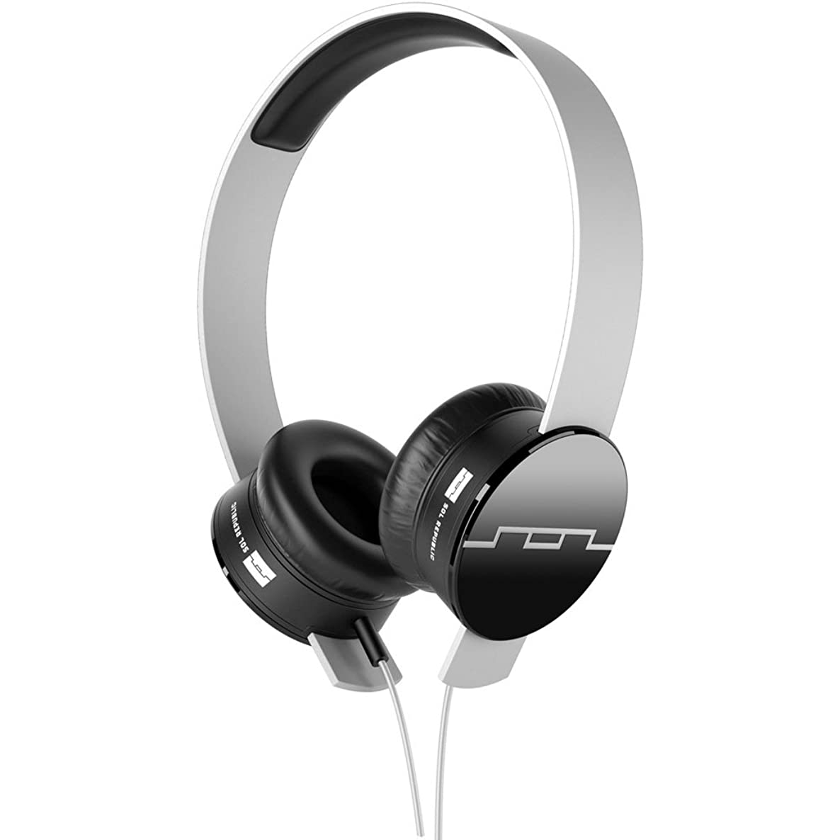 SOL REPUBLIC 1211-02 Tracks On-Ear Interchangeable Headphones with 3-Button Mic and Music Control - White