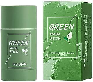 Mascarilla de arcilla limpiadora de té verde, hidrata el control de la grasa facial, limpia profundamente los poros, mejor...