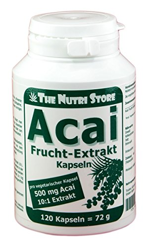 Acai Frucht-Extrakt 500 mg vegetarische Kapseln 120 Stk. - hochwertige Acai Beeren-Extrakt 10:1