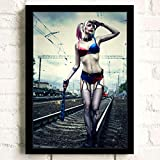 zxddzl HD Harley Quinn Poster Dipinto su Tela di Alta qualità per Bambini Decorazione familiare di Alta qualità