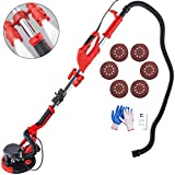 Mophorn Drywall Sander 750W,Electric Sander Variable Speed 800-1750RPM, Electric Drywall Sander Foldable Sheetrock Sander with Extendable Handle, Drywall Sanders with LED Lights and 6 Sand Pads