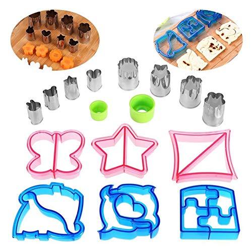 SHIZHI Accessoires de cuisine en acier inoxydable pour sandwich, légumes, pain, ustensiles de cuisine pour enfants.