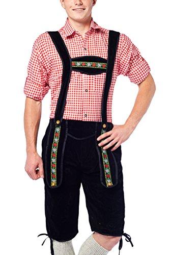 Partychimp 1179024 - Lederhose Johann Kniebund, schwarz