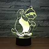 Niedliche Hundebär Illusion 3D Lampe LED 7 Farbwechsel Touch Led 3D Nacht L.