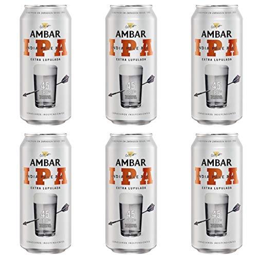 Ambar India Pale Ale (I.P.A.) Bier 5.7% Alkohol. Dosen 440 ml. bier dose, biere der welt, bier set, geschenke für männer, ambar bier, adventskalender männer (24 Dosen, 0.44 l)