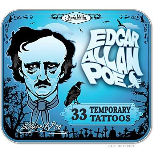 Edgar Allen Poe Temporary Tattoos