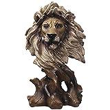 ZAQWSXCDE Sculpture Figurine Sculptures Statue Sculpture Ornements Statuette Tigre Lion Tête Faux Bois Art Loup Aigle Sculptures Animales Cheval Figurine Résine Décoration De La Maison