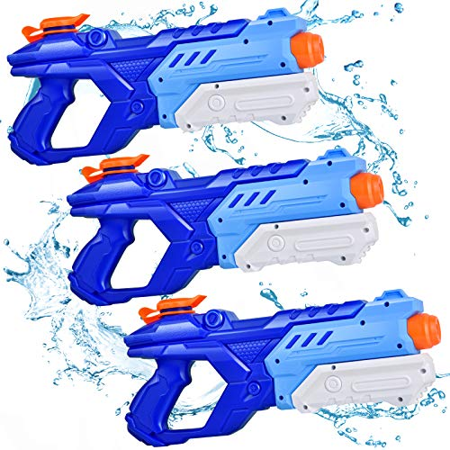Quanquer Water Guns for Kids, 3 Pack Super Water Blaster Soaker Squirt Guns 600CC High Capacity Summer Swimming Pool Beach Party Favors Water Outdoor Fighting Toy for Kids Adults Boy Girl