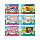 6pcs Collaboration Pack for Animal Crossing,Sanrio Card,RV Villager Furniture Compatible with Switch/3DS (A1)