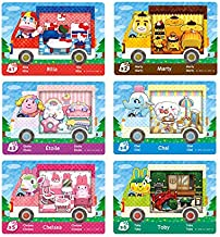 6pcs Collaboration Pack for Animal Crossing,Sanrio Normal Card,RV Villager Furniture Compatible with Switch/3DS(A1)