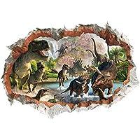 YWLINK DIY 3D ProteccióN del Medio Ambiente A Prueba De Agua EstereoscóPica Roto Dinosaurio De La Pared Decorativos Pegatinas De Pared ExtraíBle Kids Nursery Home Decor Mural Art Decal