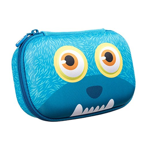 ZIPIT Wildlings Pencil Case/Pencil Box/Storage Box, Blue Photo #1