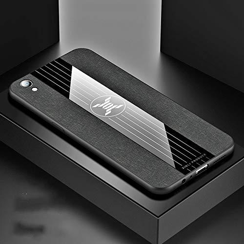 Stoßfeste TPU Tasche für Smartphone Ror Oppo R9 Plus-Stitching-Tuch textue Stoß- TPU-Schutzhülle (schwarz) (Farbe : Black)