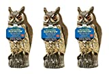 Dalen 016069000301 OW6 Gardeneer by Natural Enemy Scarecrow Horned Owl (Pack of 3)
