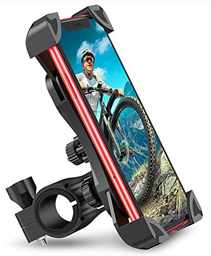 "Cocoda Soporte Movil Bici, 360° Rotación Soporte Movil Moto Bicicleta, Anti Vibración Porta Telefono Motocicleta Compatible con iPhone 12 Pro Max/12 Mini/11 Pro MAX/XS/XR y Otro 4.5-7.0"" Móvil(Negro)"