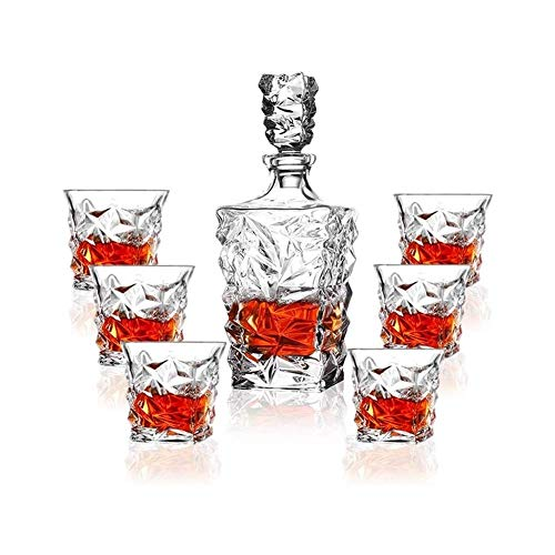 N&G Daily Equipment Premium Whiskey Decanter Set Lead Free Set of 4 Sophisticated for Whisky Scotch Bourbon Rum in A Gift Box