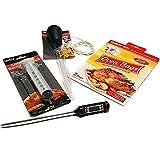 Essential-Living360 Truthahn-Kochset (5-teilig): Thermometer, Baster, Ofentaschen (2 XL), Spritze, Garn aus Baumwolle – Thanksgiving Kochzubehör mit Anleitung (in englischer Sprache)