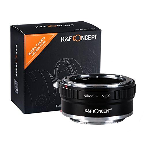 K&F Concept Adapatdor AI-NEX, Adaptador de Cobre Adaptador de Montura para Nikon...