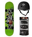 Skate-Max set Skateboard +Protezioni + Casco per Bambini dai...