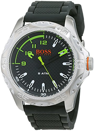 Hugo Boss Oranje Heren Analoog Klassiek Quartz Horloge met Siliconen Band 1550033