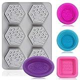 Senhai Silikonform mit 6 Mulden, 3D-Bienenwaben, Seifenformen und 4 Stück, für Cupcakes und...