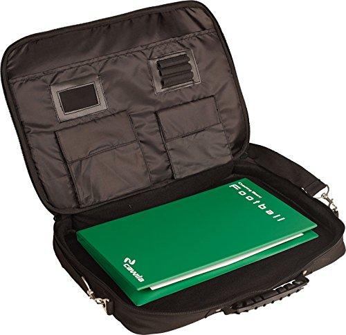 Cawila Trainertasche Trainer Briefcase inkl Zubehör für Fußball, Schwarz, M (klein)