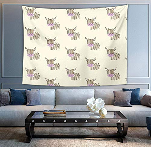 Tapiz multiusos de moda para colgar en la pared con carreras de caballos para sala de estar, dormitorio, decoración del hogar, color crema