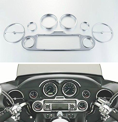 TengChang Moto Tachimetro calibri lunette Carenatura interna Gauges Bezels Inner Fairing Trim Kit per Harley Davidson Electra Street Glide 96 97 98 99 00 01 02 03 04 05 06 07 08 09 10 11 12 13