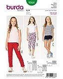 Burda 9368 Schnittmuster Hose, Jeans und Shorts (Kids, Gr. 116-158) Level 3 Mittel