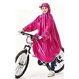 Regenmantel Poncho Regenbekleidung wiederverwendbar,Ärmel Fahrrad Elektrofahrzeug Einzelschüler...