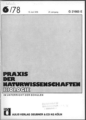 Enzyminduktion, in: PRAXIS DER NATURWISSENSCHAFTEN, BIOLOGIE, 6/1978.