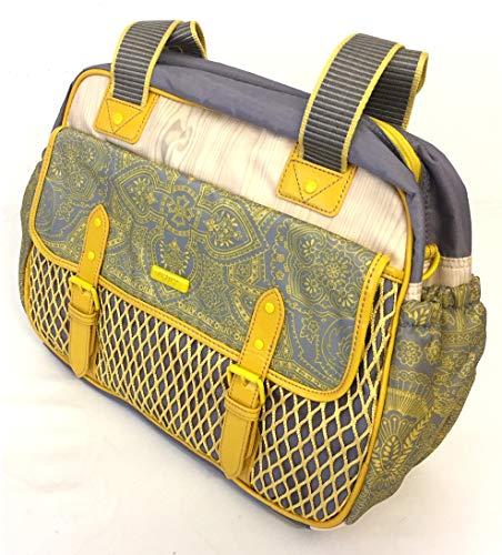 Oilily - Bolso cambiador, diseño estampado, color amarillo