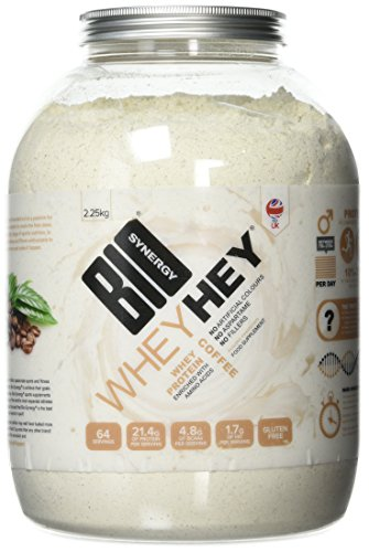 Bio-Synergy Whey Hey Brazilian Coffee Whey Protein Powder, 2.25kg (64 Servings)