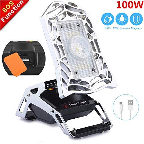 Foco LED Proyector LED 80W, Focos Luces de trabajo, 10400 mAh ...