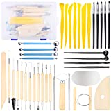 GIEMSON Polymer Clay Tools 40 Pcs Polymer Modeling Clay Sculpting Tools Set for Shaping Embossing Sculpting...