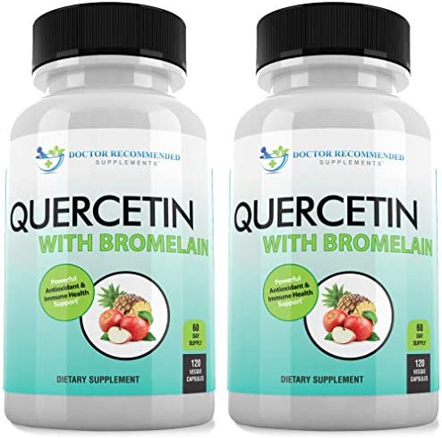Quercetin 800mg w Bromelain 165mg Per Serving 120 Veggie Capsules Full 60 Day Supply Vitamin product image