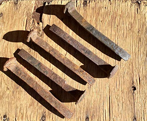 Pack of 5 Genuine Vintage Railroad Spikes - with rusting, patina and pitting