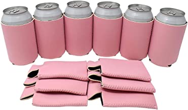 Tahoebay 25 Neoprene Can Sleeves for Standard 12 Ounce Cans Blank Beer Coolers (Blush, 25)