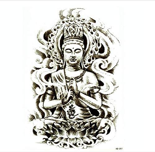 Ruofengpuzi Adesivo tatuaggio4 Unids Estatua De Buda
