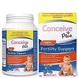 Conceive Plus Vitamines de fertilité pour homme - Stimule la testostérone, augmente la production de sperme - Zinc,...