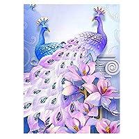 ダイヤモンドアートピーコックDIyダイヤモンドペインティングフルスクエアラウンドラインストーン画像ダイヤモンド刺繡ダイヤモンドモザイクステッカー