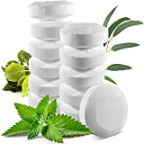 12 All Natural Shower Steamers Vapor Tablets Extra Strong for Cold and Runny Nose - Menthol Crystals, Camphor Essential Oil, Eucalyptus Essential Oil - 2 oz/Each