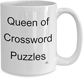 Crossword puzzle mug, coffee mug, cup, queen of crossword puzzles, gift for crossword puzzle lovers