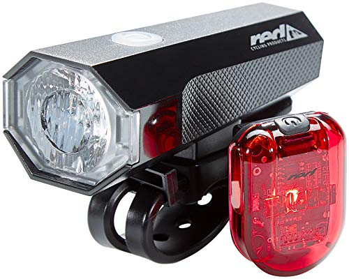 red CYCLING PRODUCTS Highlight LED USB Beleuchtungsset 2020 Fahrradbeleuchtung Sets