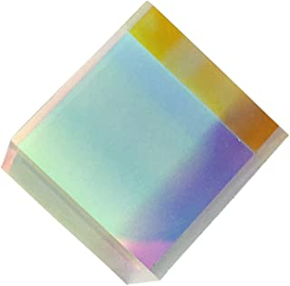 Uonlytech Optical Glass RGB Dispersion Prism X-CUBE for Physics Teach Decoration Art 15 x 15 x 15cm