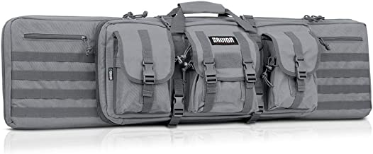 Savior Equipment American Classic Tactical Double Long Rifle Pistol Gun Bag Firearm Transportation Case w/Backpack - Lockable Compartment, Available Length in 36