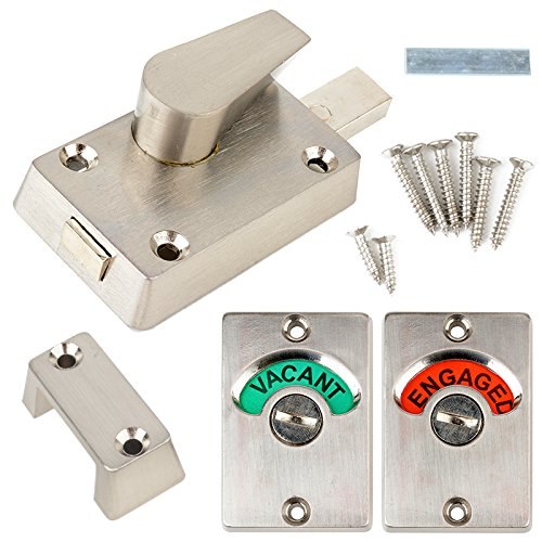 Toilet Indicator Locks Bolt Vacant Engaged Bathroom Wc Toilet Privacy Door Lock Latch For Home Toilet Bathroon Tools Amazon Com