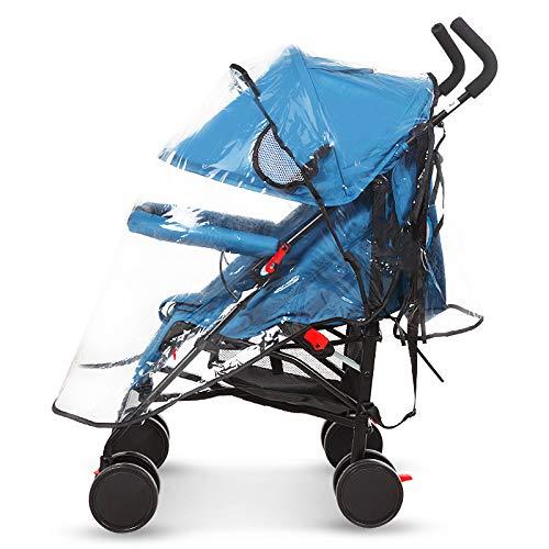 LITIAN Universal Stroller Rain Cover Pare-Brise de Voiture Enfants Poussette de bébé Housse de Pluie Réchauffez Couverture Poussette Raincoat (Couleur Transparente)
