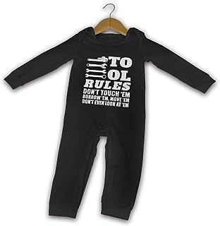 "WoodWorths Tool Rules Don""T Touch ""Em Borrow ""Em Neugeborene Mädchen Jungen Kinder Baby Strampler Langarm Säugling Kleinkind Shirts"